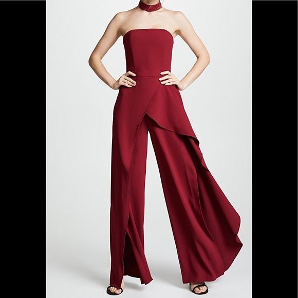 3c0b8441a3ee6 Alice + Olivia Dresses   Skirts - Aliceandolivia LATONYA RUFFLED BUSTIER  JUMPSUIT